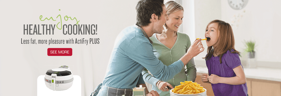 Enjoy Healthy Cooking ! Less fat, more pleasure with Actifry Plus