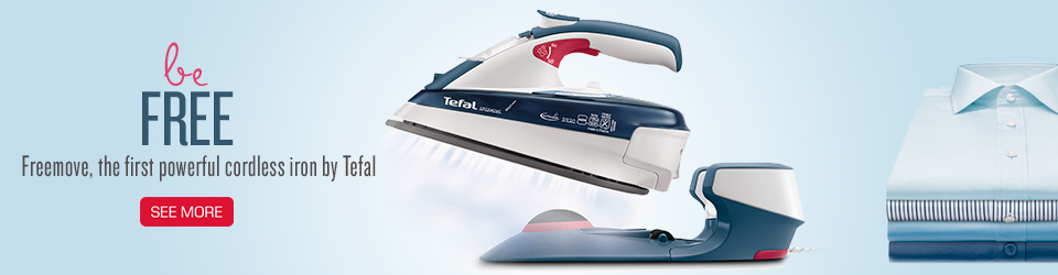 Be FREE, Freemove, the first powerful cordless iron by Tefal